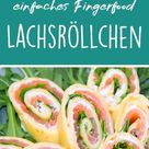 ♥ Lachsröllchen, schnelles und einfaches Fingerfood ♥