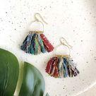 Fringed Kantha Earrings