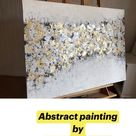 Abstract Painting, Gold Silver Leaf Painting, Modern Abstract Art, Painting On Canvas