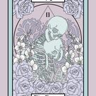 Amethyst Pastel the Lovers Tarot Card Botanical Art Print   Etsy
