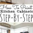 Painting Kitchen Cabinets with Chalk Paint - Simply Today Life