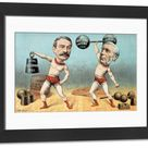 Framed Photo. Goschen and Ritchie, the Champion Weight Lifters,