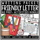 Digital Friendly Letter Writing Prompts, Templates, Graphic Organizers & Posters