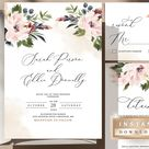 Wedding Bundle Template Instant Download Invitation White   Etsy