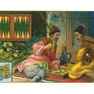 Art Print: Baccarat Game in the Caucuses : 24x16in
