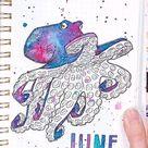 Octopus Bullet Journal Spread