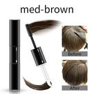 Temporary Hair Dye 2 in 1 applicator hair color brush and comb DIY Hair Color Wax Mascara Dye Cream - Med brown