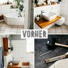 Badezimmer Fußboden Makeover – wie wir Klick-Vinyl über unsere alten Fliesen verlegt haben - luziapimpinella