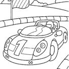 Free & Easy To Print Race Car Coloring Pages