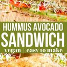 Vegan Hummus Avocado Sandwich