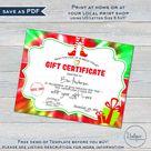 Christmas Gift Certificates Templates, Editable Gift from Santa, Last Minute Stocking Stuffer, Elf Goodbye Bye Letter, Elf Printable INSTANT