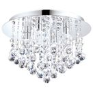 Almonte 4 Light G9 Polished Chrome IP44 Bathroom Flush Fitting With Crystal Detail