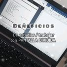 PANTALLA DIVIDIDA PARA ESTUDIAR   BENEFICIOS 🤍