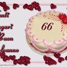 Cartoline auguri 66 anni