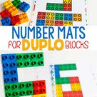 Free Printable DUPLO Counting Mats for Preschoolers