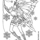 Kleurplaat Sneeuwvlok Fee. Gratis kleurplaten om te printen