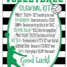 Volleyball Survival Kits- Cheer Gifts- PDF file CUSTOMIZED Survival Kit