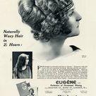 Framed Photo. Advert for Eugene permanant hair waving 1923
