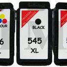 2x PG545XL Schwarz CL546XL Farbe Wiederaufbereitetes Tintenpatronen Canon MG2500
