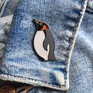 Emperor Penguin Enamel Pin, Penguin Pin Badge, Penguin Enamel Pin Badge, Penguin Lapel Pin, Emperor Penguin, Penguin Gift, Penguin Accessory