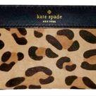 Kate Spade Accessories   Hudson Stacy Street Leopart Wallet, Grey/Black/White, Size 7x3.5x1, New   Tradesy