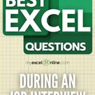 [FREE TUTORIAL] Top 7 Excel Interview Questions to Pass that Crucial Interview