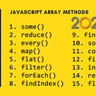 15 must-know JavaScript Array methods in 2020