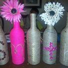 Yarn Wrapped Bottles