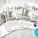 Real Estate Tabloid Brochure Canva Template  Realtor   Etsy