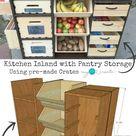 Kitchen Island with Pantry Storage