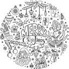 Christmas doodles, svg, clip art