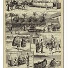 A2 Poster. Scenes in Batavia, Island of Java (engraving)