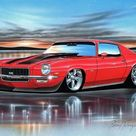 1970 71 Chevy Camaro SS Muscle Car Art Print 11x14 color options