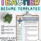 Editable Teacher Resume Templates, cover Letter, & Reference Page