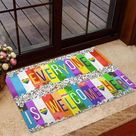 LGBT Support Easy Clean Welcome DoorMat   Felt And Rubber   from Basily Store