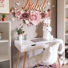 Nursery Paper Flowers Set  Blush Paper Flowers Wall Decor    Etsy