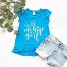One Hip Girl Ruffled High Low Flutter Shirt  Toddler Girl | Etsy