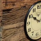 Railway Sleeper World Time Clock