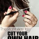 How To Cut Your Own Hair When You Can't Get to the Salon