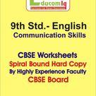 English Communication Skills Work sheet 9th Std. CBSE Board