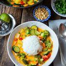Curry mit Reis und Gemüse   Madame Cuisine