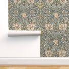 Floral Damask Wallpaper  Morris Honeysuckle by   Etsy
