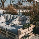 Paletten Couch für die Terrasse - Berries & Passion