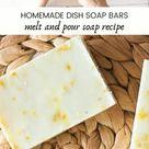 Easy Homemade Dish Soap Bars