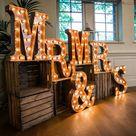 Vintage Letter Lights   Brides Little Helper