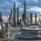 3D Central business district. Future city. Part 1 by Dovjan