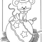 X-mas mouse - Coloring pages Christmas