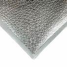 Metallic Silver Sheet 12x12in/30x30cm  With Textured Drop Print / Metallic Fabric Pieces / Scraps For Jewelry / Real Lambskin