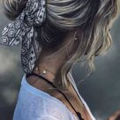 Fabulous Ways to Wear a Scarf & Hair Pin in Your Hair 2020 - bandana bun