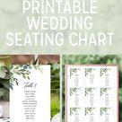 Greenery Seating Chart Printable Wedding Seating Chart Template Seating Chart Poster Printable Template Seating Plan EDIT in TEMPLETT Lucie